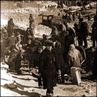 Воскресник на строительстве водозабора Алтайского тракторного завода. г. Рубцовск, 1942 г. Фото из фондов АГКМ
